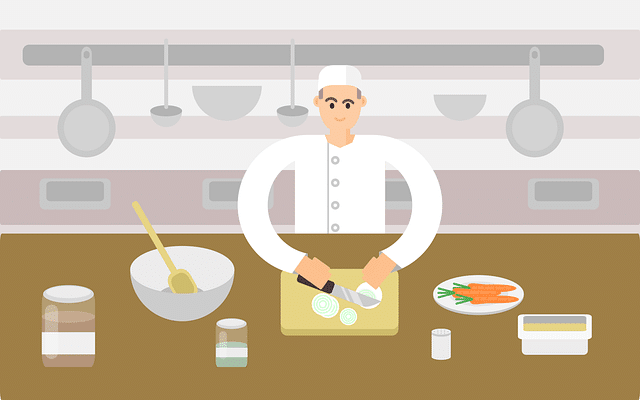 Chef cokking clipart