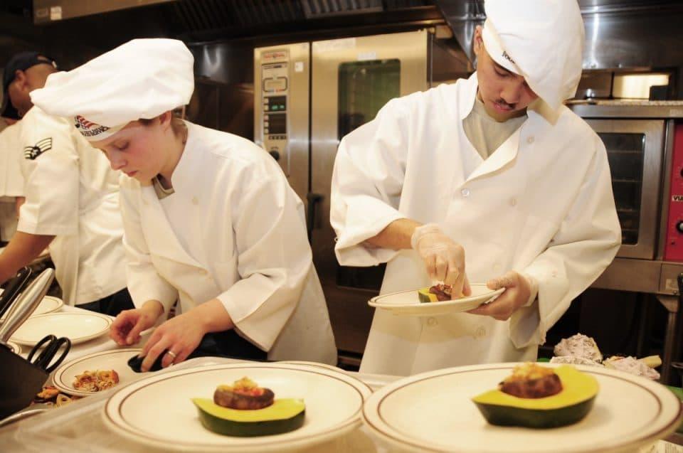 Chefs working hard in the kitchen