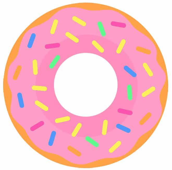 Donut strawberry sprinkles