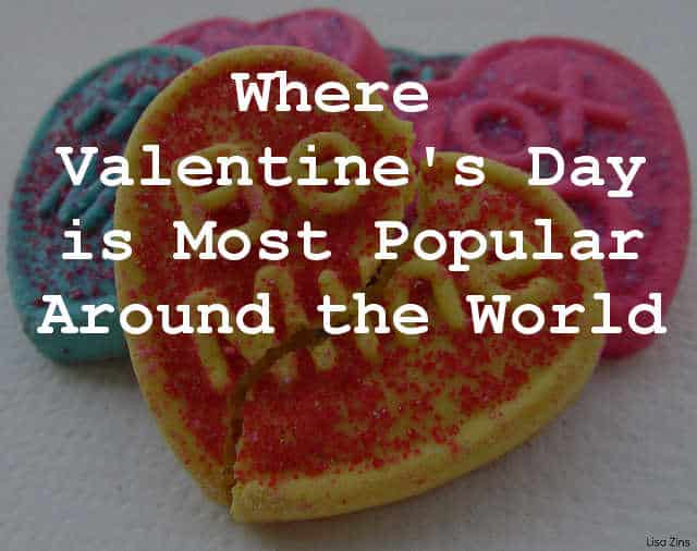 Most Popular Countries for Valentine;s Day