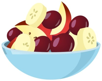 Fruit salad clipart