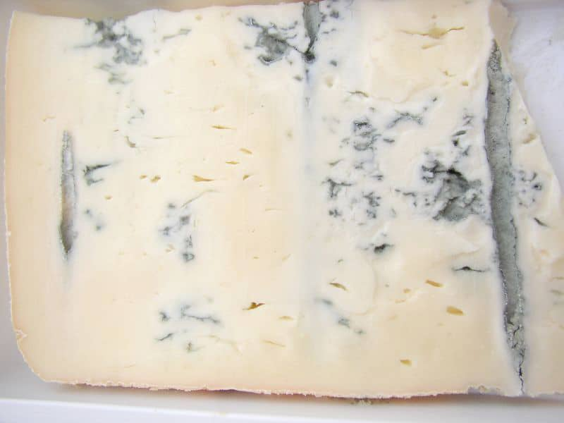 close up of Gorgonzola cheese