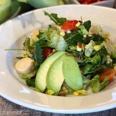 romaine, kale and avocado salad