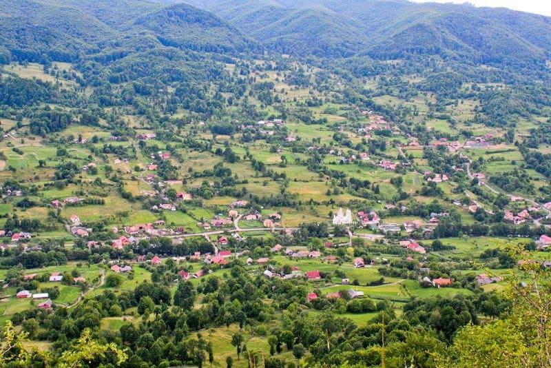 Ibanesti village, the home of the delicious telemeau de Ibanesti