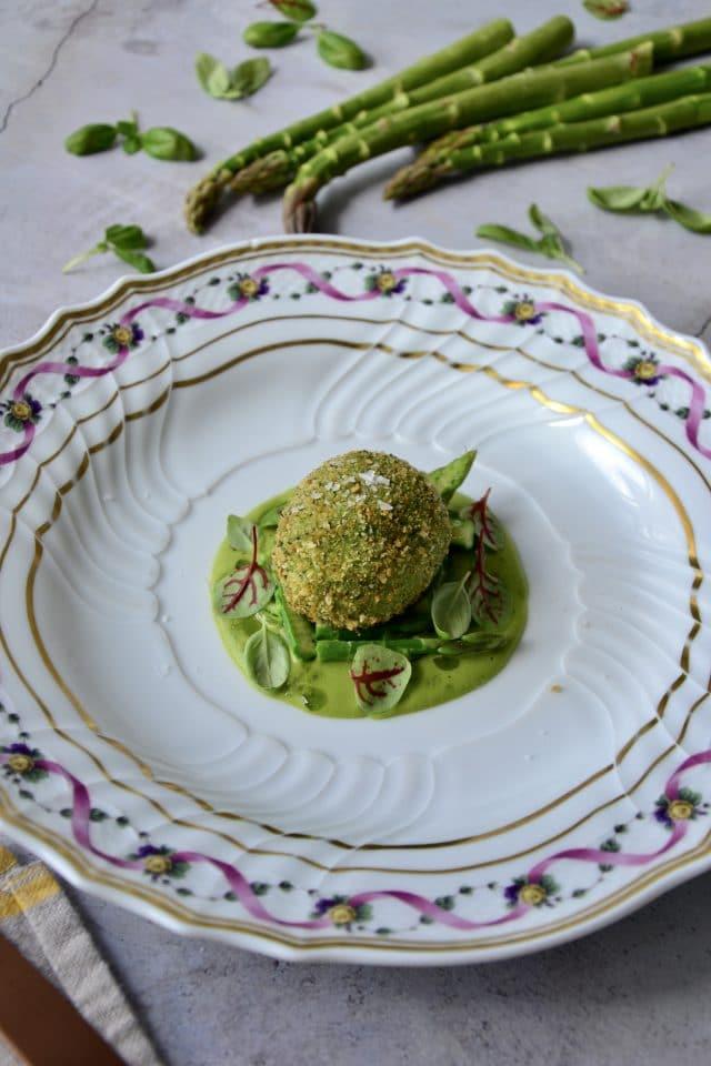 Crispy Egg with Asparagus