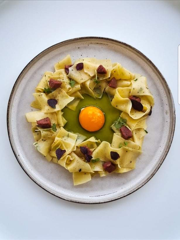 Pappardelle with Marinated Egg Yolk