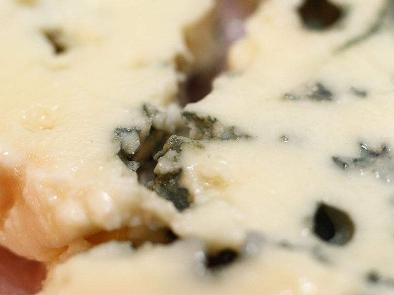 detail of blue cheese