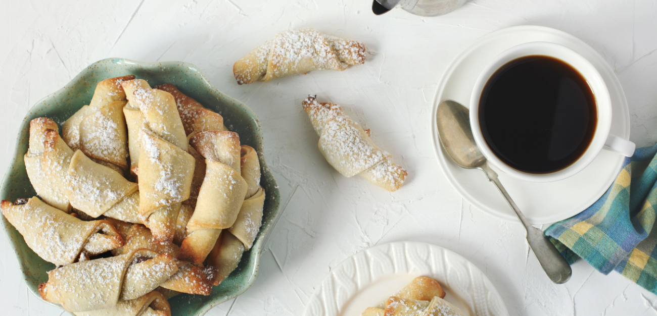 Rugelach (Rogaliki)-Rusian Crescent Cookies